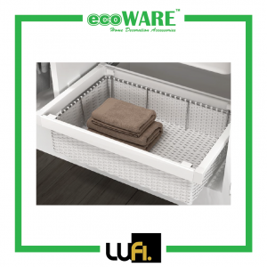 Caldo 203 Rattan Closet Basket With Soft Close Side