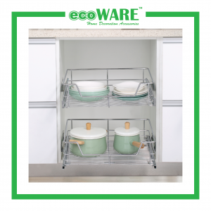 Four Side Pull Out Basket With Undermount Slide (SUS304)